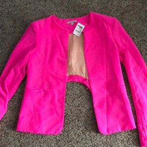 Hot pink blazer with tag
